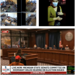 footage of state hearings on election fraud